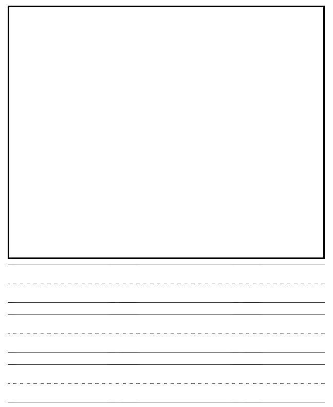 writing paper with picture box and border